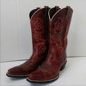 Red Ariat cowboy boots women/girls